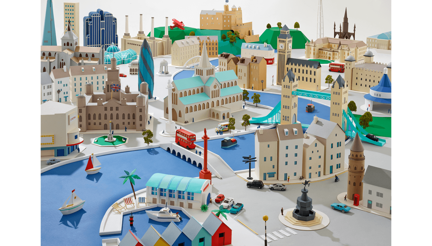 Pictures Of Toy Models Of Cities : Paper cities hattie newman