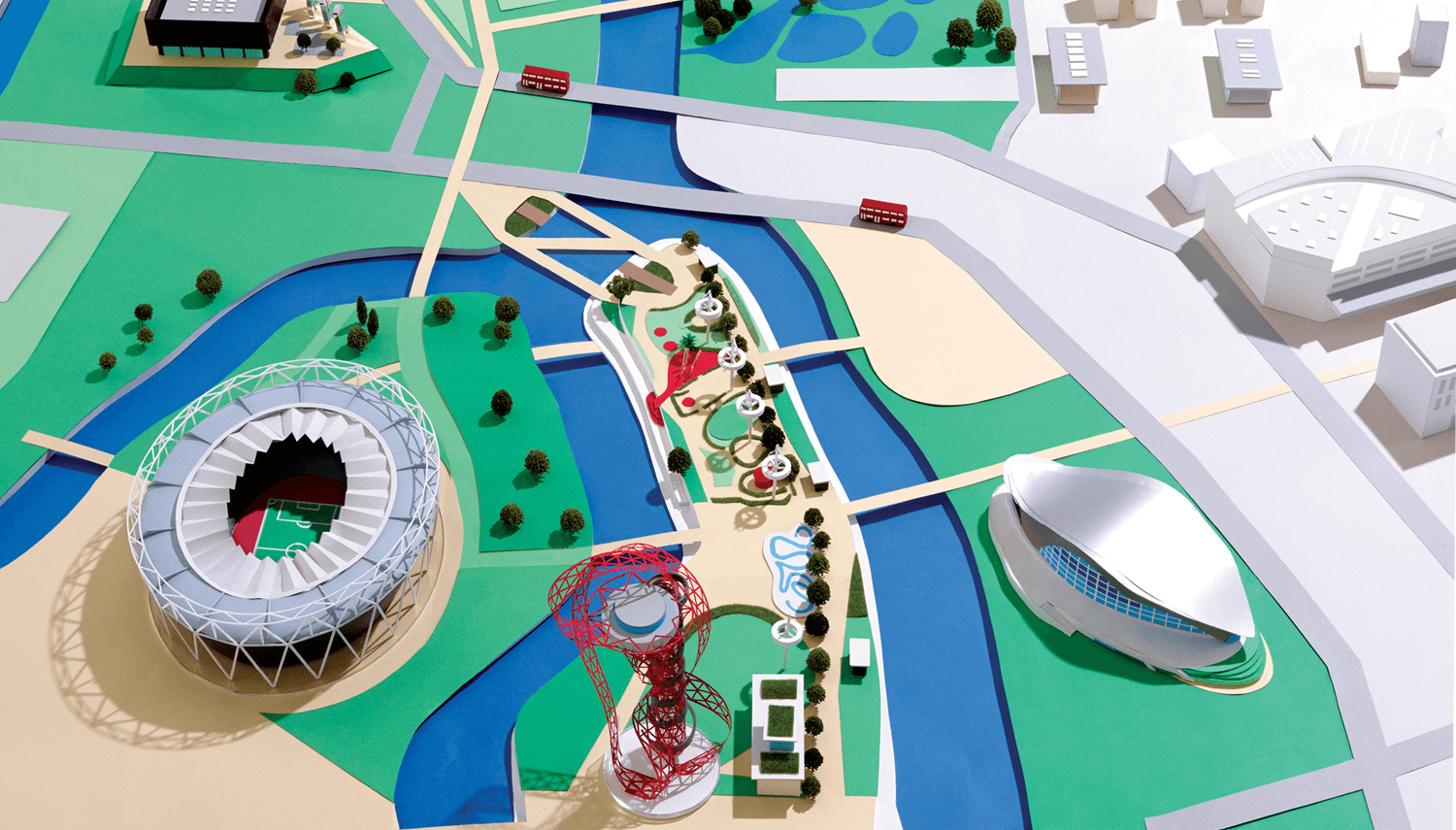 Queen Elizabeth Olympic Park Map Hattie Newman builds paper map for Queen Elizabeth's Olympic park Queen Elizabeth Olympic Park Map